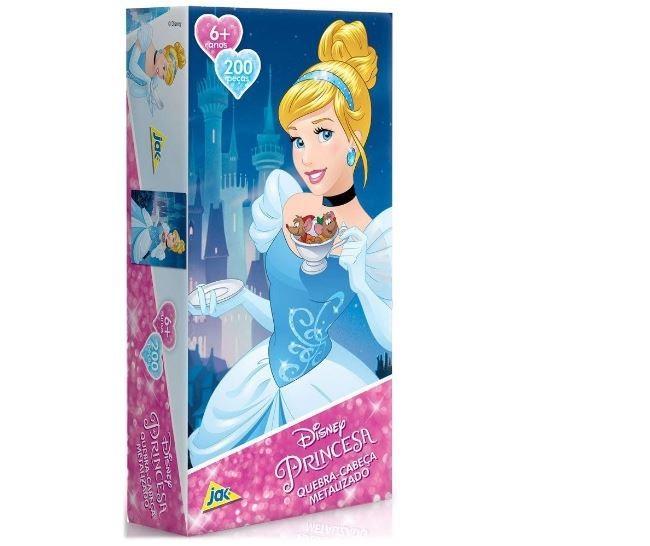 Quebra Cabeça 200 Peças Princesa Cinderela Metalizado Toyster