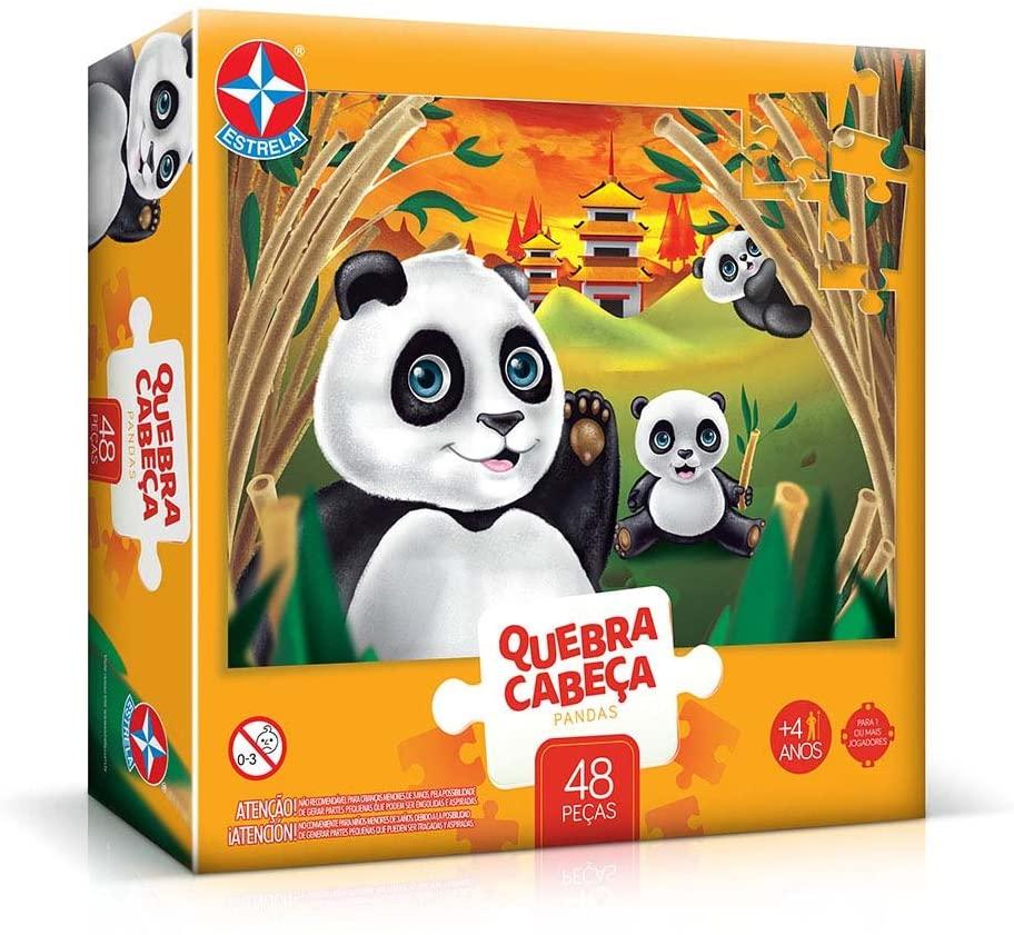 Quebra-Cabeça 48 peças grandão pandas Estrela