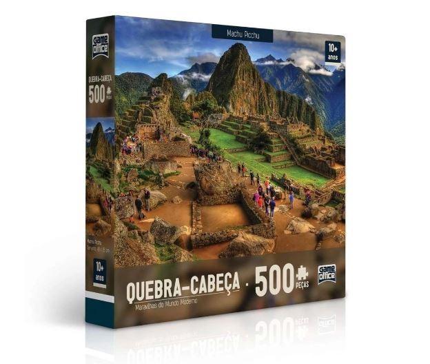 Quebra Cabeça 500 Peças Machu Picchu Maravilhas Do Mundo Moderno Toyster