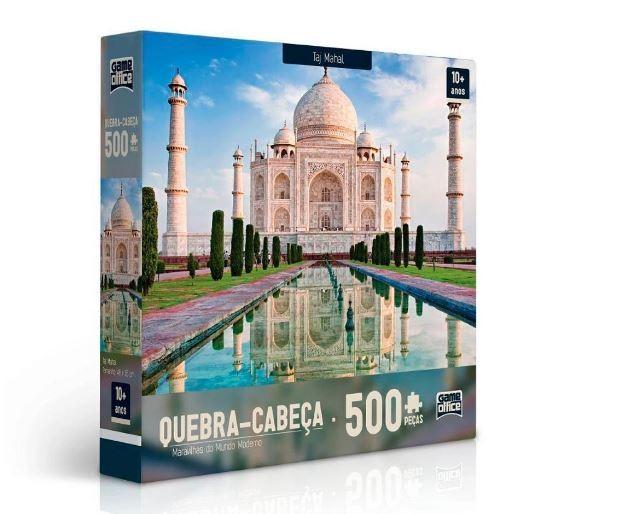 Quebra Cabeça 500 Peças Taj Mahal Maravilhas Do Mundo Moderno Toyster