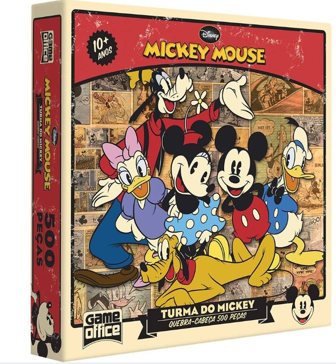 Quebra Cabeça A Turma do Mickey 500 Peças Toyster