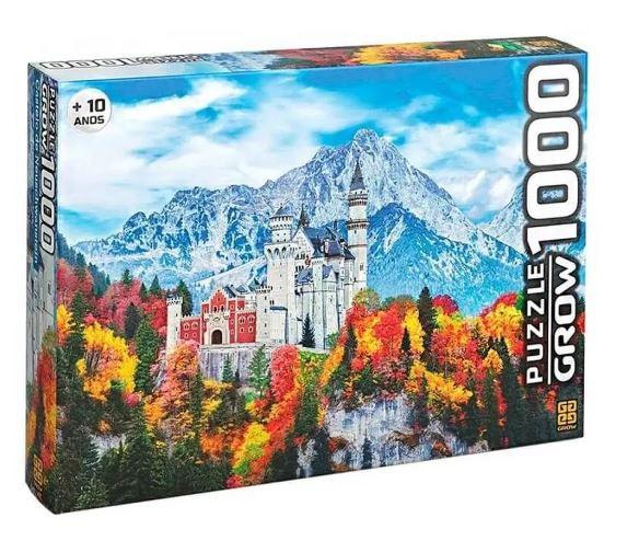 Quebra Cabeça Castelo De Neuschwanstein 1000 Peças Grow