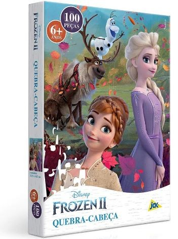 Quebra Cabeça Disney Frozen II 100 Peças Elsa Anna Olaf  e Sven Toyster