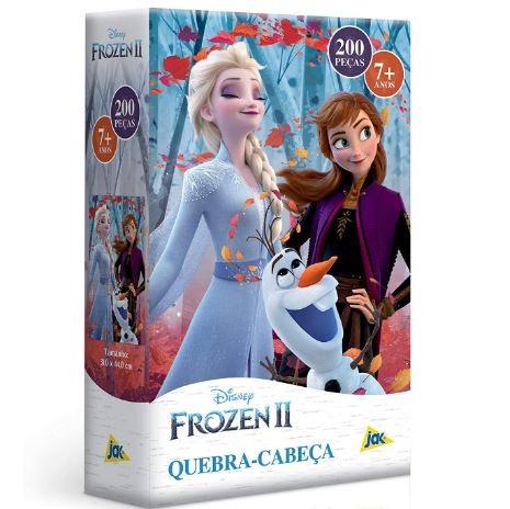 Quebra Cabeça Disney Frozen II 200 Peças Elsa Anna e Olaf Toyster
