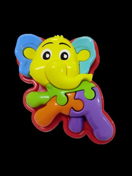 Quebra-Cabeça Divertido Elefante Animal Puzzle 3D 0856 Calesita