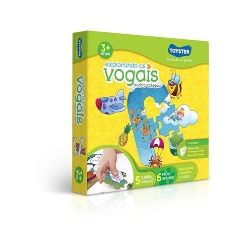 Quebra - Cabeça Explorando as Vogais 2255 Toyster