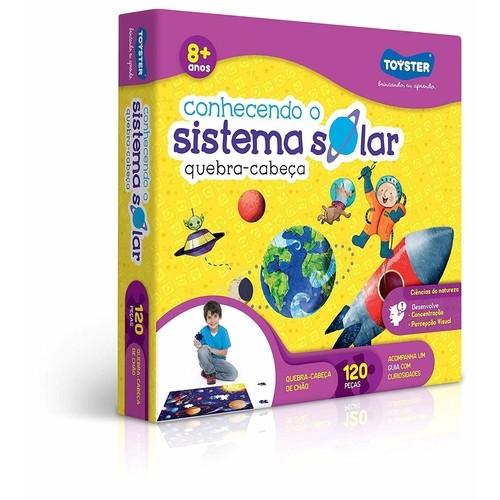Quebra cabeça Grandão 120 Pecas Conhecendo o Sistema Solar - Toyster