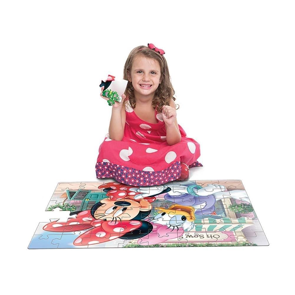 Quebra Cabeça Grandão Minnie Boutique 48 peças Toyster