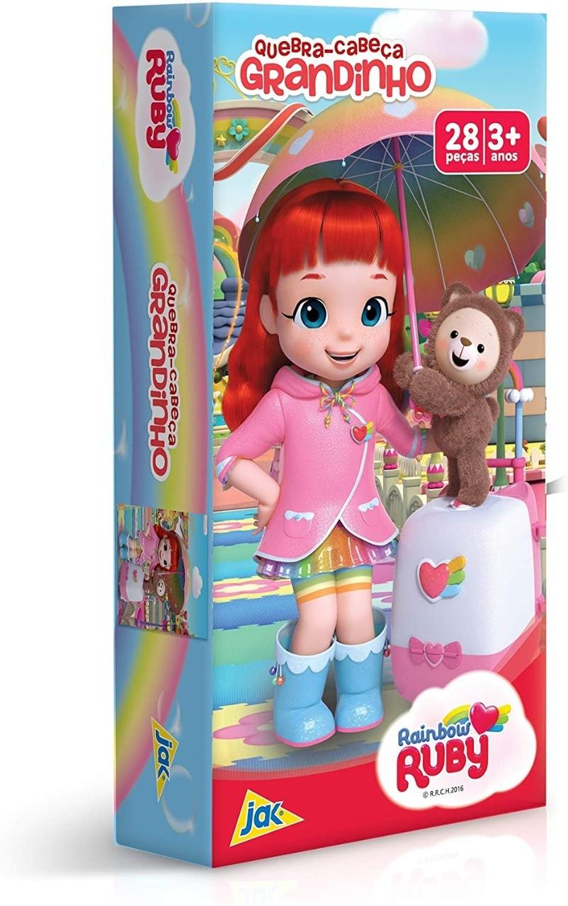 Quebra Cabeça Grandinho 28 Peças Rainbow Ruby Toyster