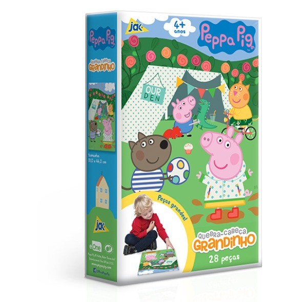 Quebra Cabeça Grandinho Peppa Pig 28 Peças Toyster