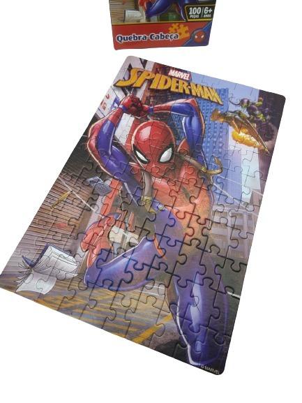 Quebra-Cabeça Homem Aranha 100 Peças Toyster