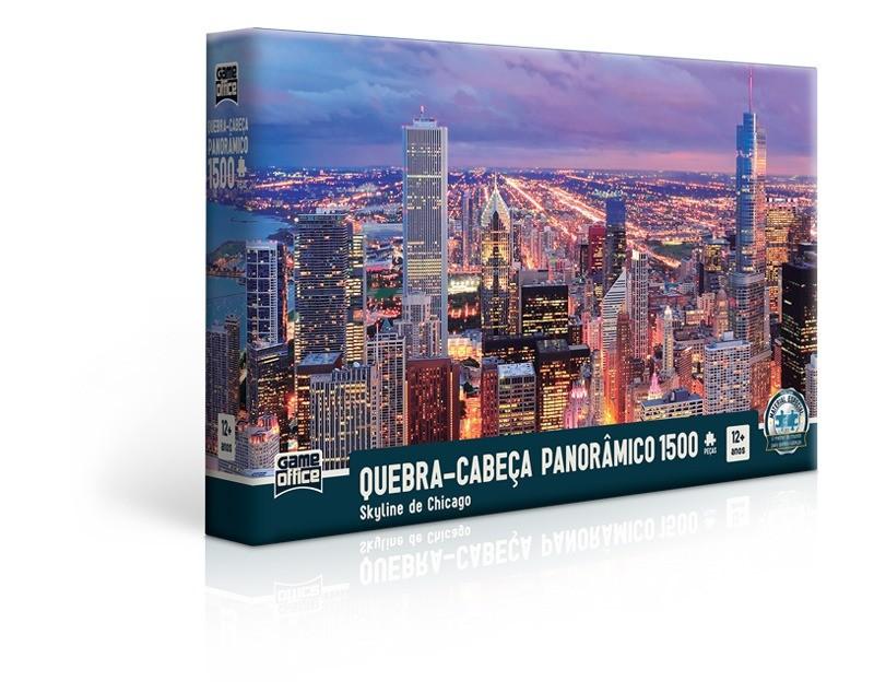 Quebra Cabeça Panorâmico Skyline De Chicago 1500 Peças Toyster