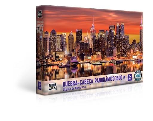 Quebra-Cabeça Panorâmico Skyline de Manhattan 1500 Peças Toyster