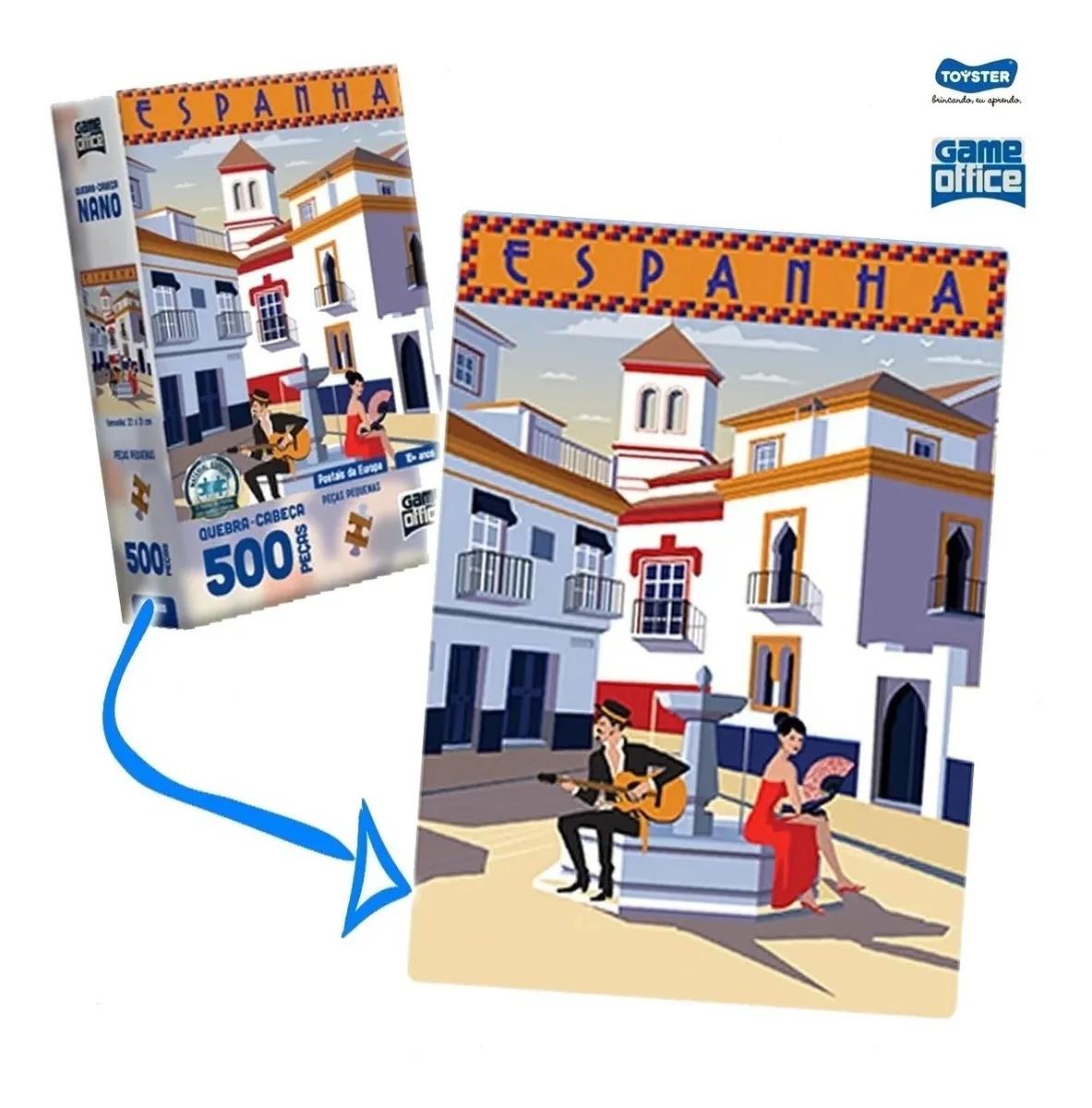 Quebra Cabeça Puzze 500 Nano Peças Portais Da Europa Espanha Toyster
