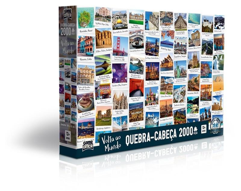 Quebra Cabeça Puzzle 2000 Peças Volta Ao Mundo Toyster