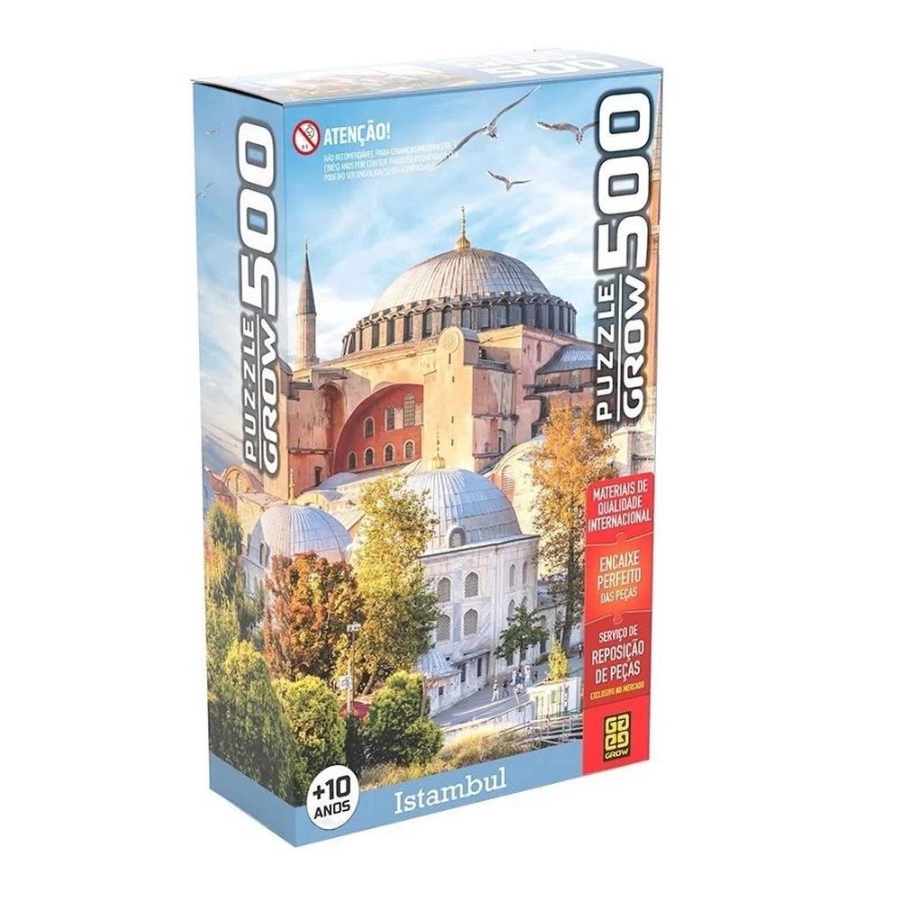 Quebra Cabeça Puzzle 500 Peças Istambul Turquia Grow
