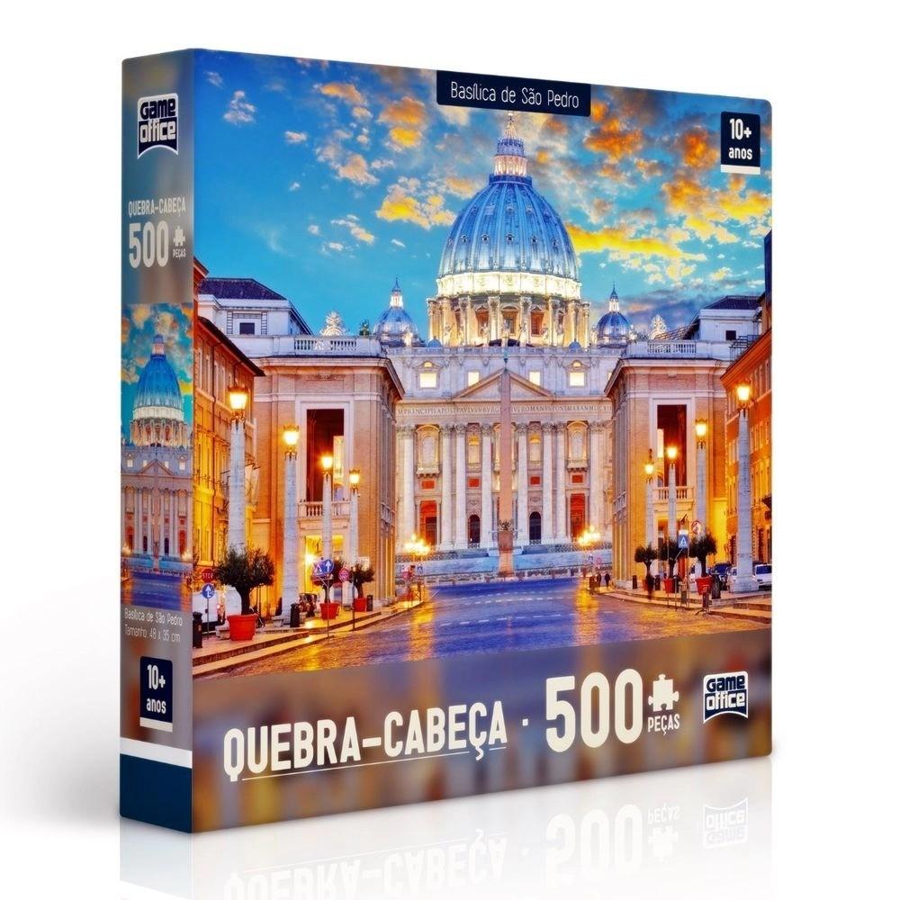 Quebra Cabeça Puzzle De 500 Peças Basílica de São Pedro Toyster