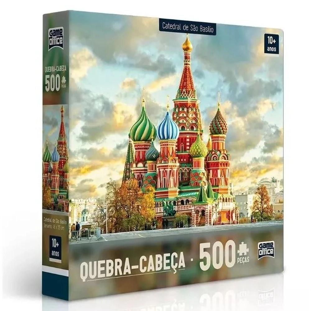 Quebra Cabeça Puzzle De 500 Peças Catedral De São Basílio Toyster