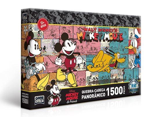 Quebra Cabeça Turma do Mickey Panorâmico 1500 Peças Toyster