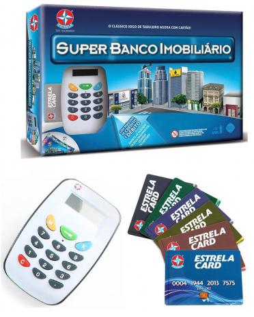 Super Banco Imobiliário com Máquina de Cartão de Crédito Estrela