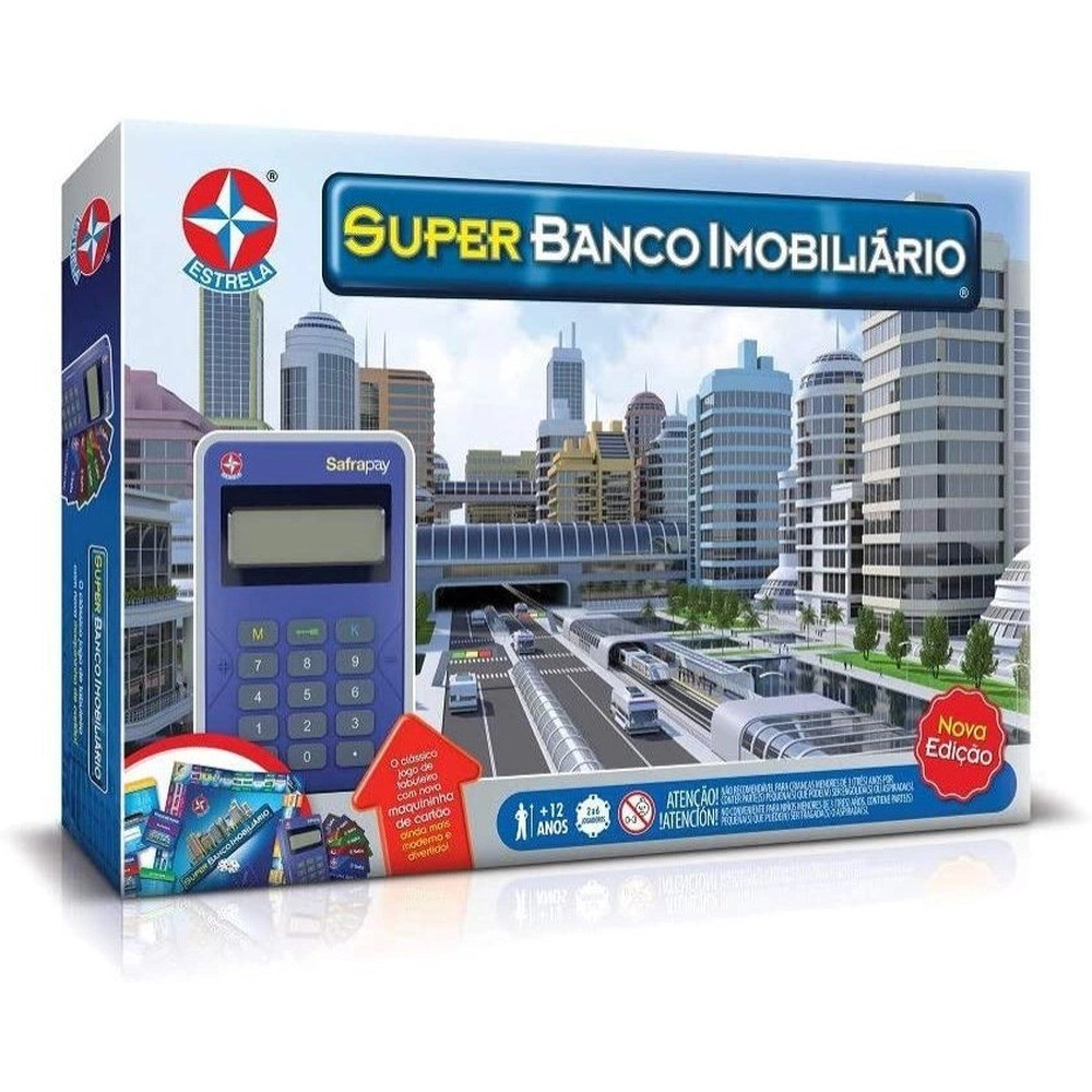 Super Banco Imobiliário com Máquina de Cartão de Crédito Nova Edição Estrela