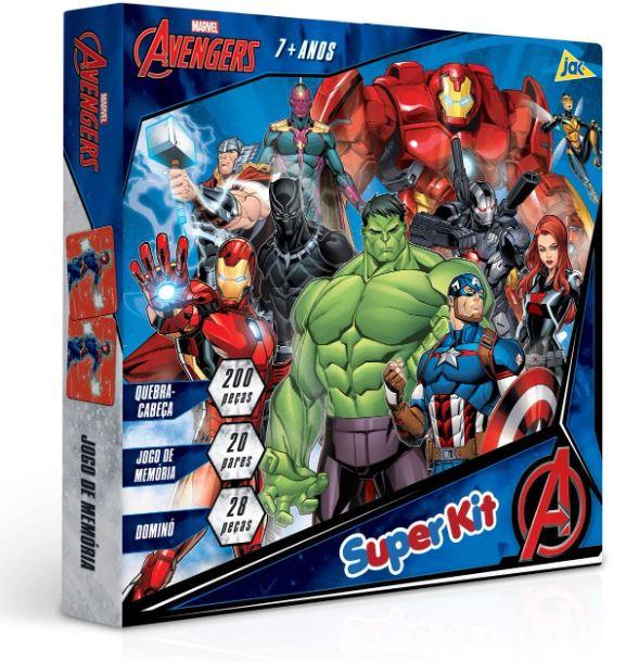 Super Kit Marvel Avengers 3X1 268 Peças Toyster