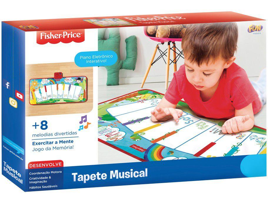 Tapetinho Musical Divertido Infantil Fun Fisher Price