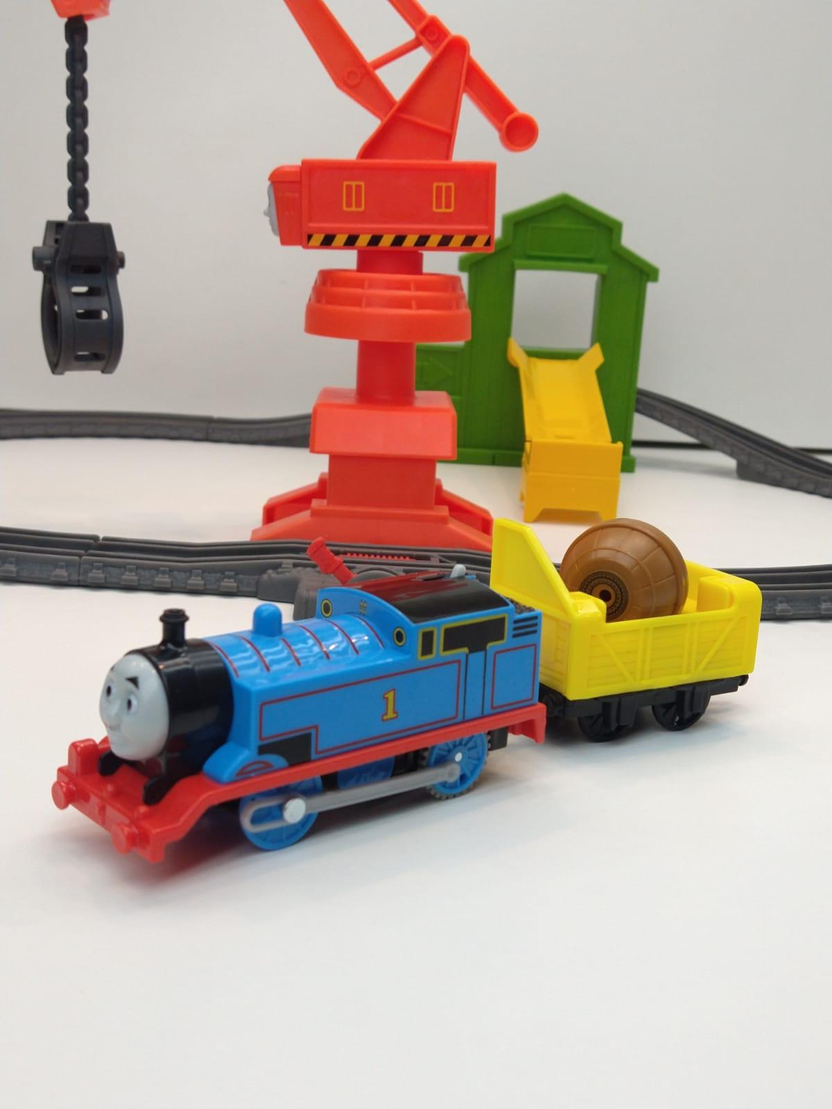Thomas E Amigos Ferrovia Com Trenzinho Trilha Do Guindaste Fisher-Price