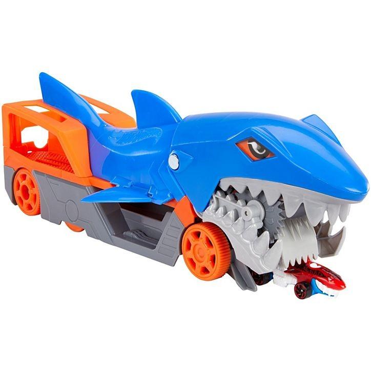 Transportador de Carrinhos Hot Wheels Guincho Tubarão Mattel GVG36