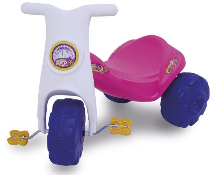 Triciclo Infantil New Turbo Girl Rosa Xalingo