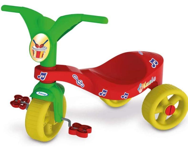 Triciclo Infantil Pop Music Vermelho Xalingo