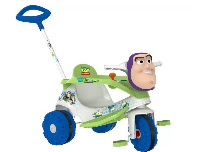 Triciclo Velobaby Disney Buzz Lightyear Passeio e Pedal Bandeirante