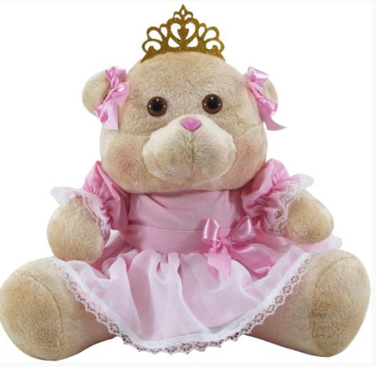Ursa de Pelúcia Princesa Real  37 cm 1134 Mury Baby