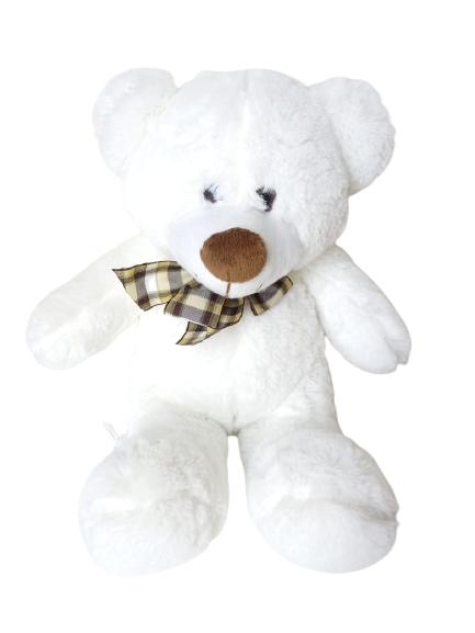 Ursinho de Pelúcia Decore Branco 32 cm Sentado 302 Brumar