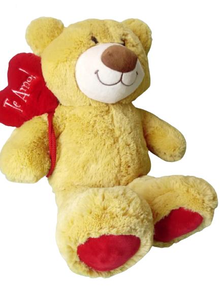 Urso de Pelúcia Balãozinho Tamanho M 37 cm Sentado 294 Brumar