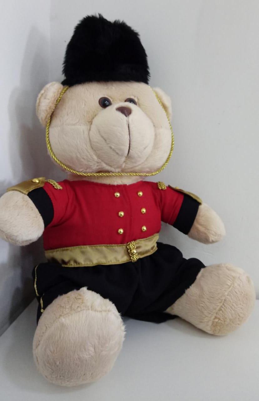 Urso de Pelúcia Soldado 40 cm 1258 Mury Baby