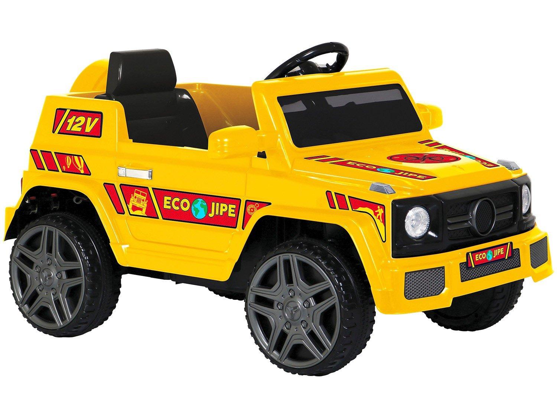 Veículo Elétrico Infantil Ecojipe 12V (Amarelo) Com Controle Bandeirante