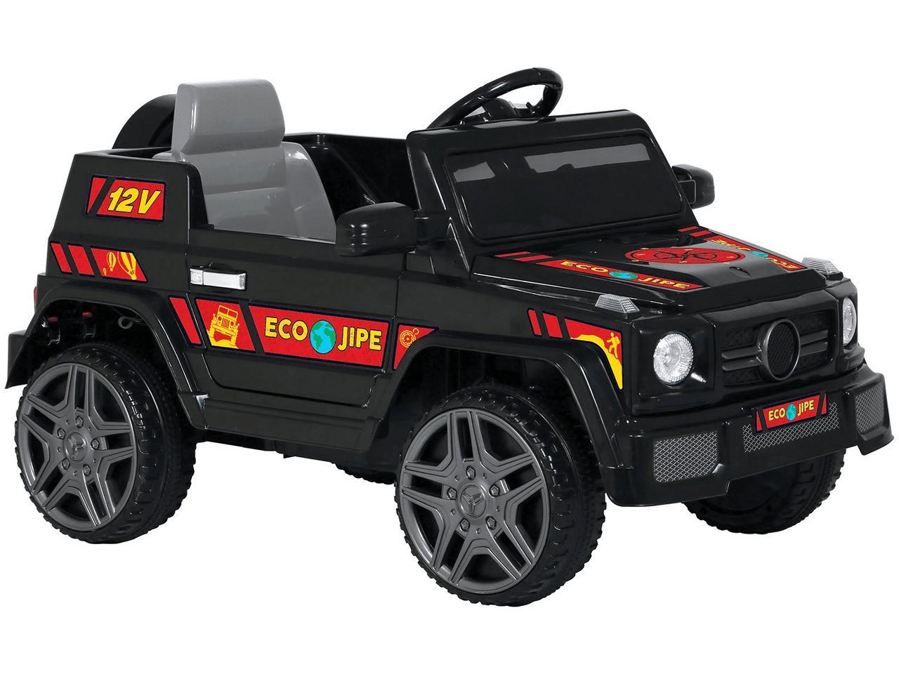 Veículo Elétrico Infantil Ecojipe 12V (Preto) Com Controle Bandeirante