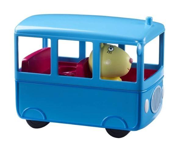 Veículo Peppa Pig Onibus Escolar Com Boneco Sunny