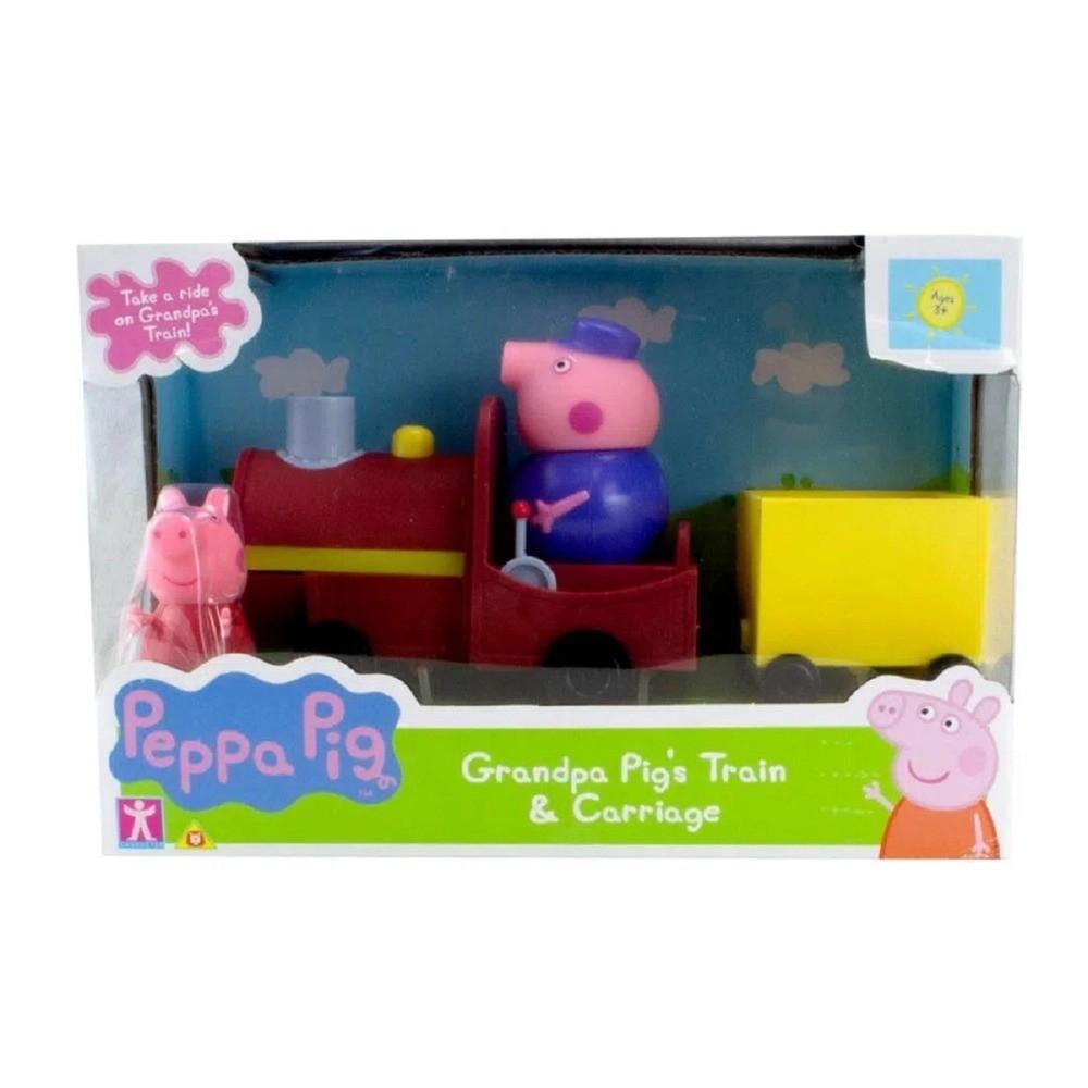 Veiculo Peppa Pig Trenzinho Do Vovô Pig Maquinista Sunny 2306