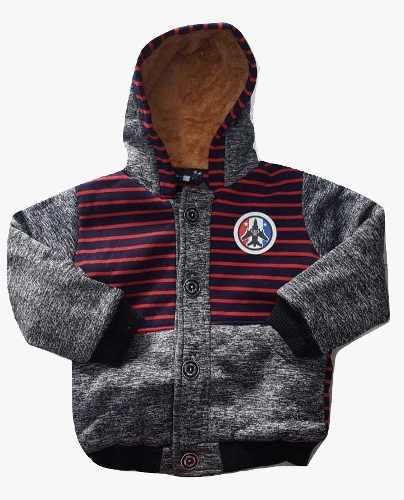 Jaqueta Casaco Menino Infantil Forrada Com Capuz
