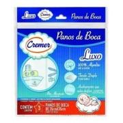 Pano De Boca Duplo Menino Bordado pacote Com 3 Unidades