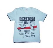 Camiseta Infantil Menino Estampa Skaters Abrange
