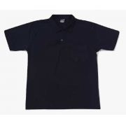 Camiseta Polo Bolso Algodão Manga Curta Camisa Gola Polo - Azul - GG