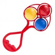 Chocalho Brinquedo Bebe Infantil Tricolor Lolly