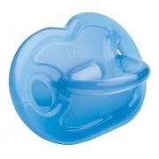Chupeta 100% Silicone De Grau Medio Orto Ot1 Lolly Azul