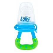 Chupeta Alimentador Silicone Lolly Azul