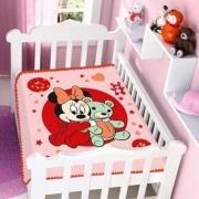 Cobertor Minnie Disney Infantil Bebê Não Alérgico