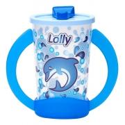 Copo Com Alça De Treinamento Oceano Baby 350 Ml Azul Lolly