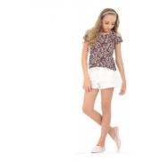 Kit 6 Blusinhas Menina Estampada Infantil Juvenil Verão